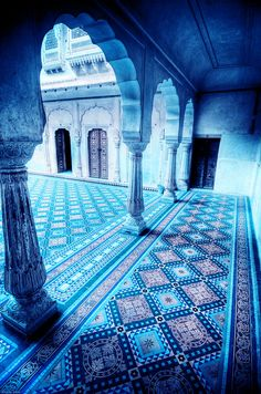 Tangled up in blue.... beautiful Morocco!