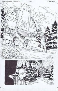 Magnus the Robot Fighter (Dynamite), Issue Page 07 Cory Smith, Manga Art, Comic Art, Robot, The Originals, Comics, Artist, Artists, Cartoons