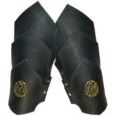 Dueling Dragons Leather Arm Bracers - Medieval & Fantasy Armor. $48.00, via Etsy.