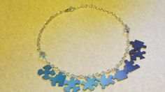 Ombre Autism Awareness Puzzle Piece by dragonsdreamsdesigns on Etsy