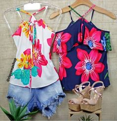 Summertime, Floral Tops, Casual Shorts, Clothes, Ideas, Women, Fashion, Women's Work Fashion, Pink