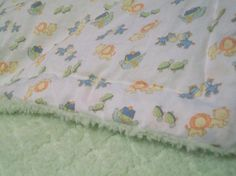 Noah's ark plush baby blanket by MotherLark on Etsy, $30.00
