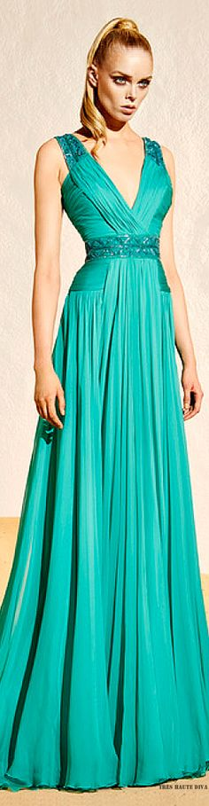 Zuhair Murad Resort 2015. It's a cute simple dress but it would look a lot cuter if this girl would smile