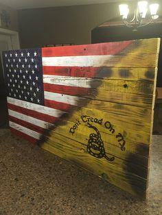 "American/Gadsden Flag 20""x36"""