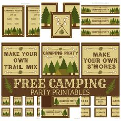 Free Printables: Camping Printable Set