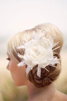 Cute side bun with flower!!!