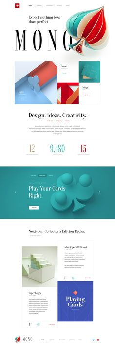 Mono Studio – Ui design concept for a marketing website by Mike | Creative Mints