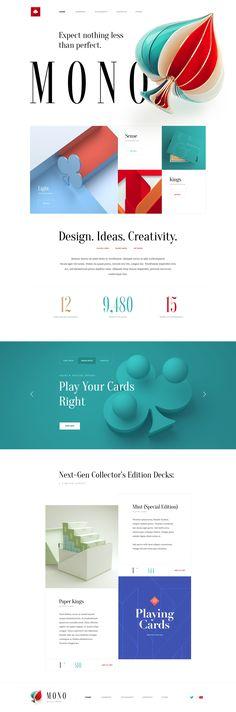 Mono creative agency web design