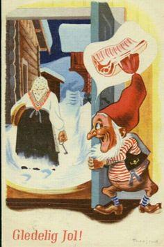 Julekort Jørgen Thorsrud utg Børrehaug og Remen 1940-tallet Christmas Cards, Christmas Postcards, Norway, Painting, Art, Google, Christmas E Cards, Art Background, Xmas Cards