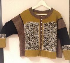 Crochet Cardigan, Knit Or Crochet, Fair Isle Knitting, Hand Knitting, Viking Pattern, Norwegian Knitting, Knitting Basics, Knitting Machine Patterns, Jacket Pattern