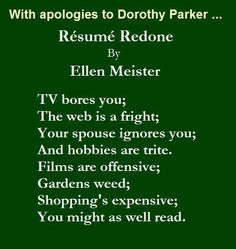 10 great poems you can memorize today pinterest dorothy parker