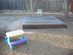 Covered sandbox