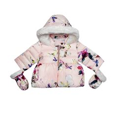 56b70f4fe This coat from the Baker B by Ted Baker childrenswear range will add a  touch of colour to a little one s outerwear collection. Featuring a vibrant  bird ...