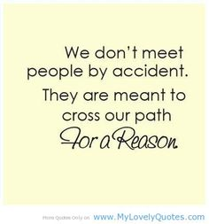 We don't meet the people by accident, amazing quotes - My Lovely Quotes