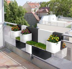 """Kubes"" planter design by University of Nimes students Noémie Royer Lorraine Thirion"
