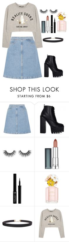 """Don't dream it's over"" by arianabut1993 on Polyvore featuring moda, M.i.h Jeans, Velour Lashes, Maybelline, Giorgio Armani, Marc Jacobs y Humble Chic"