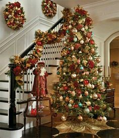 Tree by the stairs decor