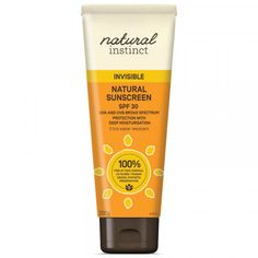 Natural Instinct® Invisible Sunscreen SPF 30 - Sunscreen - Health & Beauty