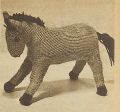 Vintage Horse Free Knitting Pattern | Knitting Bee