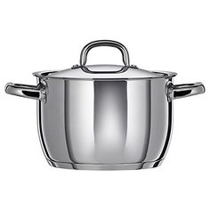 IKEA OUMBÄRLIG Pot with lid 5 l Thick base with one layer of aluminium between two layers of stainless steel. Gives an even and energy-efficient heat, which reduces the risk of food burning and sticking. Glass Ceramic, Recycling Facility, Electric Cooktop, Glass Cooktop, Stainless Steel Dishwasher, Food Preparation, Cookware, Kitchenware, Kitchen