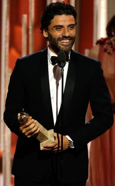 Oscar Isaac from Golden Globes 2016 Winners!  Best Actor in a Limited-Series or TV Movie