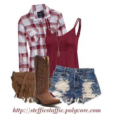 """""""Small Town Country Girl"""" by steffiestaffie on Polyvore"""