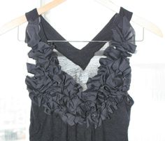 EASY Tutorial to turn any shirt/neckline into this adorable ruffle neck.