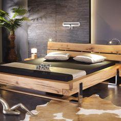 Bed Frame Design, Bedroom Bed Design, Diy Bed Frame, Bedroom Decor, Pallet Furniture Designs, Solid Wood Furniture, My Furniture, Bed Headboard Wooden, Headboards For Beds
