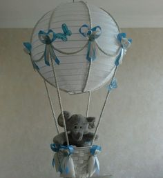 Cute little elephant in hot air balloon light lamp shade made to cute little elephant in hot air balloon light lamp shade made to order aloadofball Images