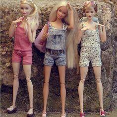Sweet Cody, Lili and Fabienne #jswdolls #doll #ooak #ooakdoll #ooakdollrepaint #repaint #repaintdolls #dollphoto #fashiondoll #mattel #barbie #barbiedoll #barbieplayline