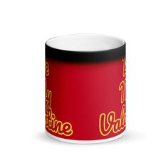 Be My Valentine Matte Black Magic Mug - Valentine's Day Gifts - Be My Valentine Black Glossy Magic Mug – Valentine's Day Gifts - Valentine Day Boxes, Be My Valentine, Valentine Day Gifts, Aladdin, Valentine's Day Poster, Coffee Cans, Drink Coffee, Color Changing Coffee Mug, Black Magic