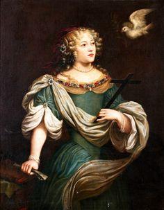 Louise de la Valliere as St. Helena by a follower of Abraham Janssens (c. 1660s)