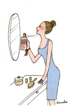 KANAKO   a spray of perfume