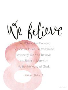 Article of Faith 1:8 #Faith