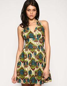 African halter dress