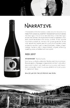 Narrative 2017 Red | Red Blend from Okanagan Crush Pad Winery in Summerland Tasting Notes Red Wine, Alcoholic Drinks, Conditioner, Notes, Report Cards, Liquor Drinks, Notebook, Alcoholic Beverages, Liquor