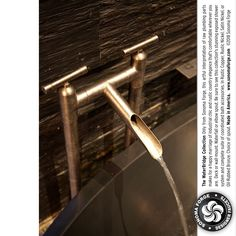 Show me the plumbing! #Rustic WaterBridge #designer #faucets and #showers elevate humble plumbing parts bringing #IndustrialChic from converted commercial spaces into your home. Find more of what you #love at #SonomaForge Made in the US. www.sonomaforge.com/catalog