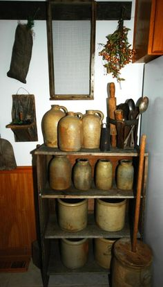 Primitive Kitchen Ideas | Primitive Kitchen, Early 1800's Primitive Kitchen., Kitchens Design
