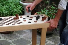 Congo Squares #Bench: A Seat and Chess Board in One