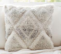 Leela Hand-Woven Pillow Cover   Pottery Barn $59.50