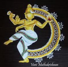 Rangoli Designs Simple Diwali, Diya Rangoli, Nataraja, Simple Designs, Bangles, Home Decor, Art, Simple Drawings, Bracelets