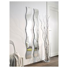 KRABB καθρέφτης - IKEA Cyprus - twin pack wavy mirrors 14.99 euro - fun for teenagers bedroom or to add interest & light to a hallway