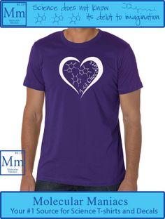 I Love Chocolate Shirt by MolecularManiacs on Etsy, $18.00// #nerdfashion #chemistry #scienceshirts