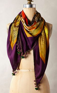 silk pom scarf #anthrofave  http://rstyle.me/n/urev6pdpe