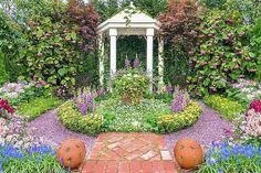 Formal garden landscape Backyard Pavilion, Backyard Retreat, Backyard Pergola, Backyard Landscaping, Landscaping Ideas, Backyard Ideas, Outdoor Pavilion, Outdoor Sheds, Outdoor Rooms