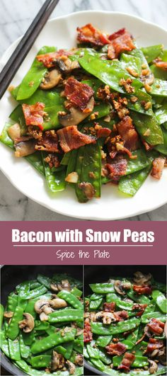 Delicious and super easy Bacon with Snow Peas stir fry