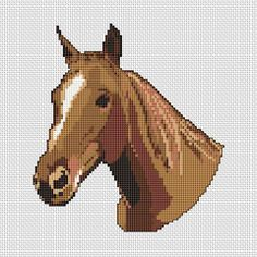 Horse Head free cross stitch pattern
