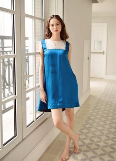 Cotton Dresses, Blue Dresses, Summer Dresses, Edgy Outfits, Cool Outfits, Silk Dress, Latest Fashion Trends, Long Gowns