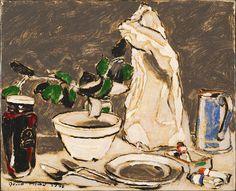 David B. Milne – Raspberry Jam, oil on canvas, 46 x cm David Milne, Canadian Painters, Printmaking, Still Life, Art Boards, Oil On Canvas, Raspberry, My Arts, Gallery