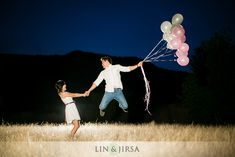 Couple Posing + Balloons